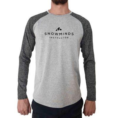 Active Instructor Shirt / Long sleeve running shirt - White/Grey - Unisex