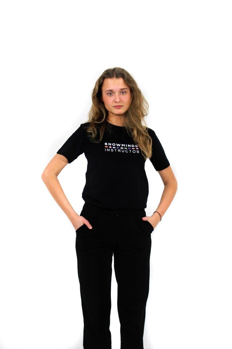 Ski t-shirt - Instructor Flags - Black - W
